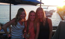 Dana, Ashley & I in the sunset
