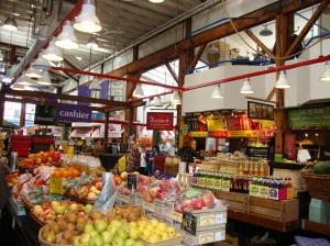 Inside Granville Island Market, Vancouver