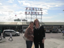Mom and I at the Pike Place Market in Seattle